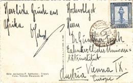 Libya, Italian Colony,post Card Sent Tripoli 1939 To Vienna,nice Clear Franking,verso 2nd ScanTripoli- Rare[-SKRILL PAY - Libya
