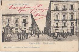 CPA ITALIE ITALIA SICILIA CATANIA Piazza Bellini Via Stesicorea 1901
