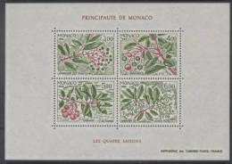 Monaco (1986) Yv. Bf. 36  /  Flore - Fruits - Flowers - Fleurs - Arbre - Trees - Seasons - Fruits