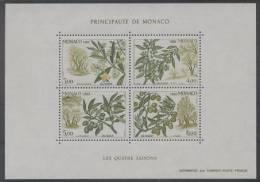 Monaco (1988) Yv. Bf. 43  /  Flore - Fruits - Flowers - Fleurs - Arbre - Trees - Seasons - Fruits