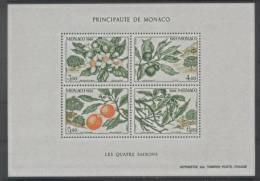 Monaco (1991) Yv. Bf. 54  /  Flore - Fruits - Flowers - Fleurs - Arbre - Trees - Seasons - Fruits