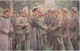 WW I Kronprinz Friedrich Wilhelm I D Argonnen B Verleihung Eisernes Kreuz Rotes Pickelhaube Spiked Helmet Red  Cross TOP - Personnages