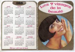 CALENDRIER LUX SAVON 1968 - THORBEL JOUET CHER - LES 7 VISAGES DE LA BEAUTE - A VOIR - Tamaño Pequeño : 1961-70