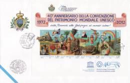 P - 2012 San Marino - 40° Convenzione UNESCO - FDC - FDC