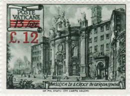 P - 1952 Vaticano - Basiliche -sovrastampato - Ungebraucht
