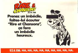 Carte Publicitaire - Rire Et Chansons - Publicité