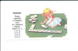 Dominos Jeu Jouet Domino Game / Ecureuil Mangeant Un Gland De Chêne Arbre Animal  // IM 01/1 - Old Paper