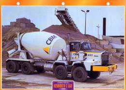 FICHE CARTONNE 25x18.5 CM CAMION DOC.AU DOS VOIR SCAN SERIE TRAVAUX PUBLICS 1990 KENWORTH C 550 - Camions