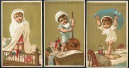 Chromo Guérin Boutron, Thème Petit Enfant Debout Dans Un Lit, Lith. Vallet Minot, Voir Scan Pour Détail - Guerin Boutron
