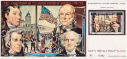 """Cpt434 """" 200eme Annivairse Des USA Carte N°8802 """" - Laos"""