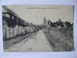 37 - BB -  CONTINVOIR - L'EGLISE ET ROUTE D'AVRILLE - Frankreich