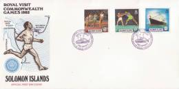 """Cpt450 """" Visite Royale Pour Les Jeux Du Commonwealth 1982  FDC """" - Solomon Islands (1978-...)"""