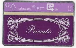 Carte Privee PrivateTirage 1000 EX - Belgium