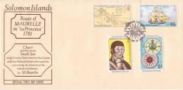 """Cpt454 """" Route De Maurelle Avec La """"Princesa  FDC """" - Solomon Islands (1978-...)"""