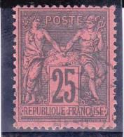 SAGE N/U - YVERT N°91 OBLITERE  - COTE = 25 EUR. - 1876-1898 Sage (Type II)