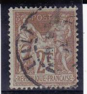 SAGE N/B - YVERT N°105 OBLITERE  - COTE = 40 EUR. - 1898-1900 Sage (Type III)
