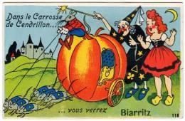 Dans Le Carrosse De Cendrillon ... Vous Verrez Biarritz (citrouille, Attelage Sourisà (dépliant Manquant) - Biarritz