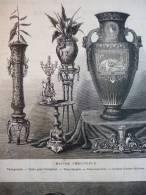 Exposition Union Centrale Des Beaux Arts , Maison Christofle ,  Gravure De 1874 - Documents Historiques