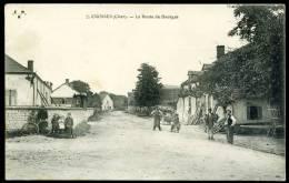 CPA.   CROSSES. La Route De Bourges. - France