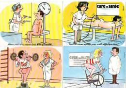 6 Cpsm Thème Cures Thermales, Régime, Haltères, Humour, érostisme - Alexandre