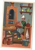 POTIER Au Travail,   Illustrateur Rémy HETREAU, CP Secours National 1943 ; CP 14 - Ilustradores & Fotógrafos
