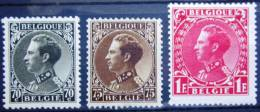 BELGIQUE         N°  401/403          NEUF* - 1934-1935 Léopold III
