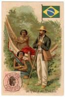 Chromo Chocolat De L'Union, Lyon : La Poste Au Brésil - Chocolat