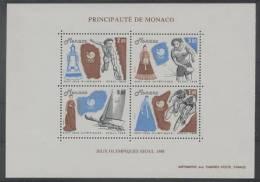 Monaco (1988)  Yv. Bf. 42  /  Olympic Games - Seul - Ships - Tennis - Cycling - Zomer 1988: Seoel