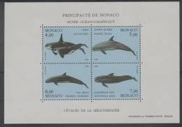 Monaco (1994) Yv. Bf. 64  / Dolphins - Dolphin - Whales - Whale - Ballenas - Delfines - Delfin - Walvissen