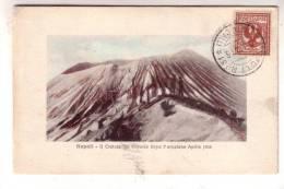 23SC879) NAPOLI - IL CRATERE DEL VESUVIO DOPO L' ERUZIONE APRILE 1906 - FORMATO PICCOLO - Napoli (Naples)
