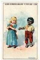 Chromo Alcool De Menthe Anglaise, P. Toye Ainé, Vente En Gros M. Dorieux & Cie, Lyon : Enfants (négritude) - Autres