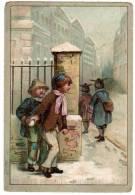 """Chromo """"aux Deux Passages"""", Lyon : Enfant Jouant Avec De La Neige - Altri"""