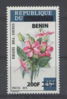 FLEUR Bénin Surcharge De 2008/09 1494 Cote 200euro RARE - FLOWER BLUME ** MNH - Plants