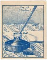 "Chromo ""Sirop Souverain Pivot"", Pharmacie M. Eparvier, Lyon (Où Est L'écolier ? - Encrier) - Guérin-Boutron"