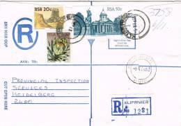 0609. Carta Certificada KLIPRIVIER (South Africa) RSA 1986 - África Del Sur (1961-...)