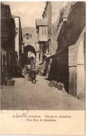 ISRAEL - Une Rue De JERUSALEM / Austrian Post +++ To Myrtle Creek, OR, USA, 1911 +++ Fr. Vester & Co., #135 +++ - Israel