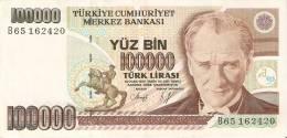 BILLETE DE TURQUIA DE 100000 LIRASI DEL AÑO 1970   (BANKNOTE) - Turquia