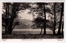 POSTCARD HAREWOOD HOUSE FROM THE LAKE LEEDS YORKSHIRE RPPC LILYWHITE - Leeds