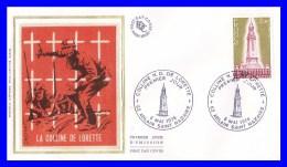 2010 (Yvert) Sur Enveloppe Premier Jour Illustrée Sur Soie - Colline Notre Dame De Lorette - France 1978 - FDC