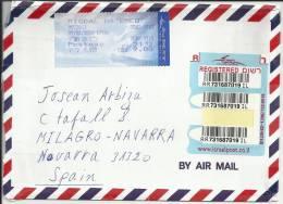 ISRAEL CC CERTIFICADA CON ATM BANDERA - Briefe
