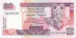 BILLETE DE SRY LANKA DE 20 RUPEES DEL AÑO 1991 SIN CIRCULAR-UNCIRCULATED (BANKNOTE) - Sri Lanka