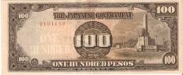 BILLETE DE JAPON DE 100 PESOS DE LA OCUPACION DE FILIPINAS   (BANKNOTE) - Japón