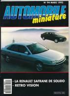 AUTOMOBILE MINIATURE, N° 94 (mars1992) : Lamborgini B-Burago, Ars, Mira, Kyosho, Solido, Lesney-Matchbox, Spot-On... - Magazines