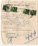 TRAPANI  /  MARSALA   24.4.1947  - AVVISO  - Democratica Multipli Lire 1 X 4 - 6. 1946-.. Repubblica