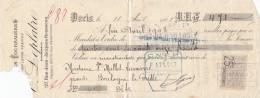 Wechsel Der Bank E. Leplatre, Paris über 471 Francs, 18. April 1908 - Wechsel