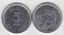 Brasil 5 Cruzados 1.988 Acero KM#606 SC/UNC     T-DL-10.209 - Brasil