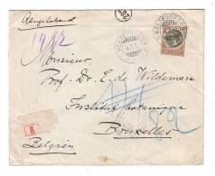 Pays Bas Weltevreden Batavia Nederlands-Indië Jakarta 1912 Bruxelles Belgique Registred Recommandé Institut Botanique - Niederländisch-Indien
