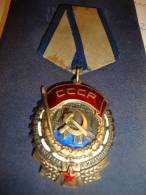 RUSSIA Order Of The Red Banner Of Labour Size 49x39mm Number On The Reserve Is 1927992 Perfect Condition 3  Photo - Russia