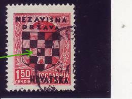 COAT OF ARMS--1-50 DIN-OVERPRINT-NDH-ERROR-CROATIA-1941 - Kroatien