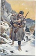 WW I Waffenbrüder Tirol Er Kaiserjäger Rettet Deutschen Offizier Karpathen Österreich Deutschland Hindenburg 2.2.1918 - Zonder Classificatie